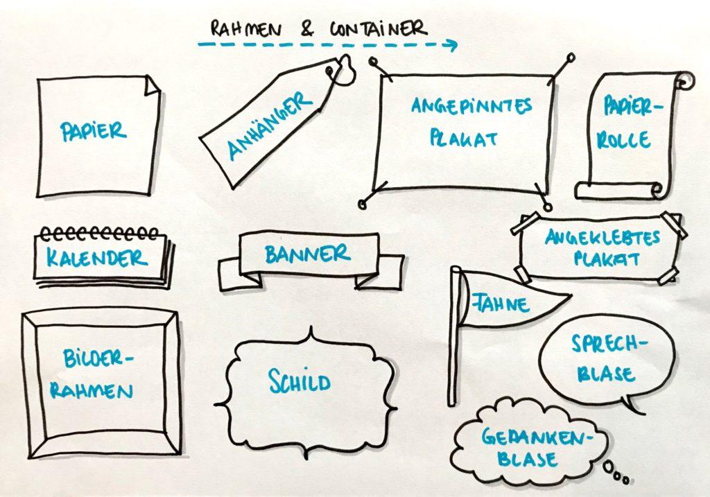Wie Du Rahmen und Container als Grundlage für Sketchnotes nutzt ...