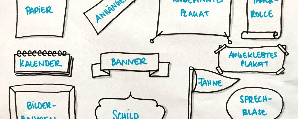 Rahmen und Banner